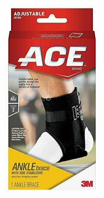 ACE Brand Ankle Brace with Side Stabilizers - usaotc.com