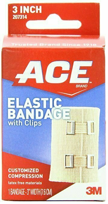 ACE Elastic Bandage with Clips, 3 Inch-Width - usaotc.com