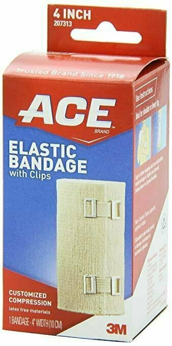 ACE Elastic Bandage with Clips, 4 Inches, 1-Count - usaotc.com