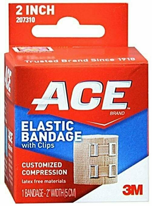 ACE Elastic Bandage With Clips Customized Compression 2 Inches 1 Each - usaotc.com
