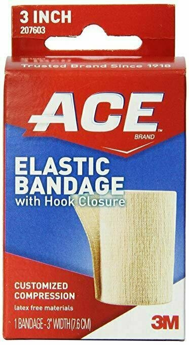 ACE Elastic Bandage with Hook Closure, 3 Inch - usaotc.com