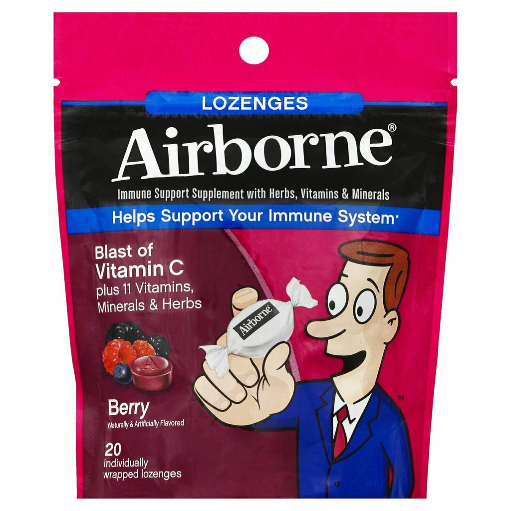 Airborne Vitamin C Immune Support Lozenges, Berry 20 each - usaotc.com
