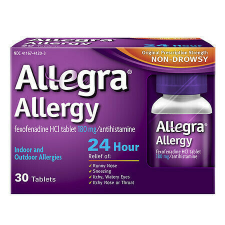 Allegra 24 Hour Allergy, 180mg Tablets, 45 ct. - usaotc.com