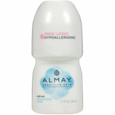Almay Anti-Perspirant & Deodorant, Sensitive Skin, Roll-On, Fragrance Free 1.7 oz - usaotc.com