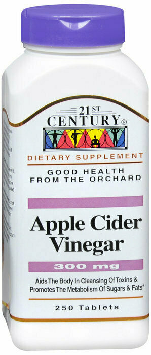 APPLE CIDER VINEGAR 300MG TAB 250CT - usaotc.com