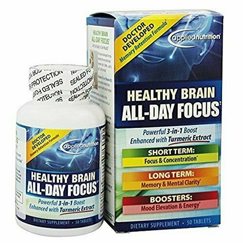 Applied Nutrition - Healthy Brain All Day Focus - 50 Tablets - usaotc.com