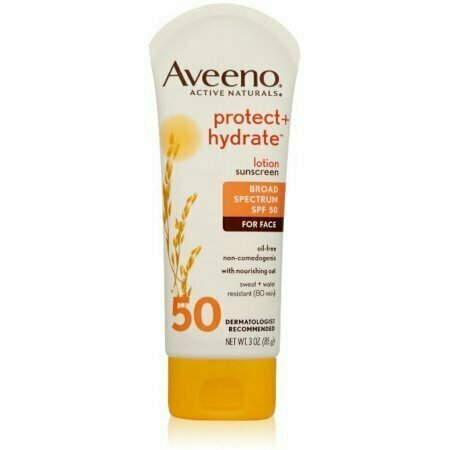 AVEENO Active Naturals Protect + Hydrate Lotion Sunscreen SPF 50 3 oz - usaotc.com