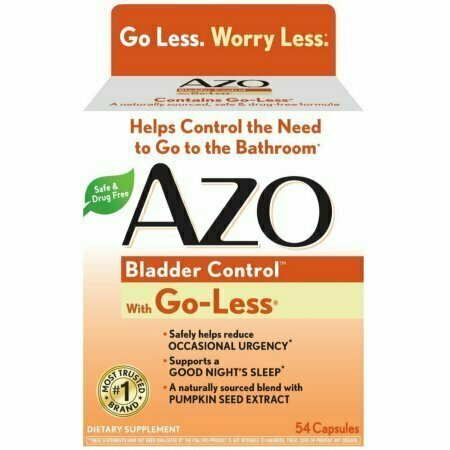 AZO Bladder Control with Go-Less Capsules 54 each - usaotc.com