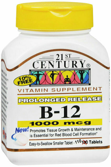 B-12 1000MCG PROLONGED RELEASE 110 CT - usaotc.com