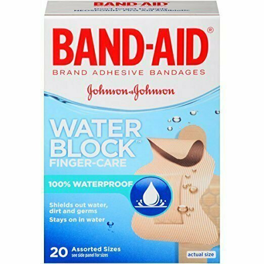 Band-Aid Adhesive Bandages Block Plus, Finger-Care, 20 Count - usaotc.com