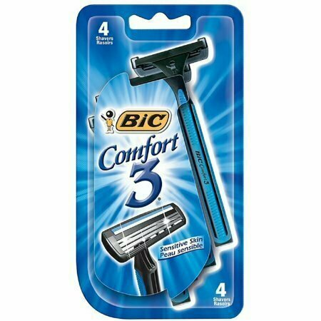 Bic Comfort 3 Sensitive Disposable Shaver 4 each - usaotc.com