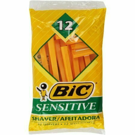 Bic Single Blade Shavers, Sensitive 12 each - usaotc.com