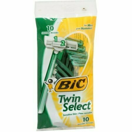 Bic Twin Select Shavers For Men Sensitive Skin 10 Each - usaotc.com