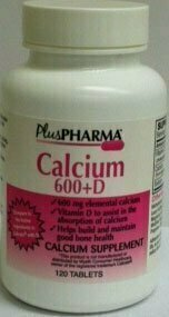 Calcium 600 + D, 120 tablets - usaotc.com