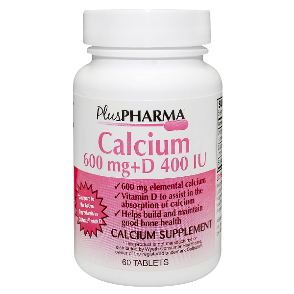 Calcium 600+D Plus Pharma - usaotc.com