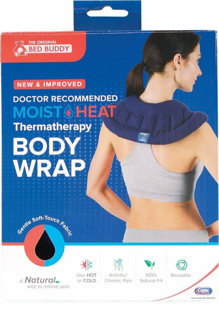 Carex, Bed Buddy Body Wrap, Flexible Soft Fabric Filled with Natural Grains for Hot or Cold Therapy - usaotc.com