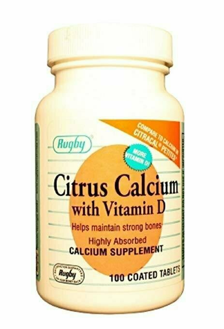 CITRUS CALCIUM 400MG W/D 500IU TAB CALCIUM CITRATE-200 MG white 100 TABLETS - usaotc.com
