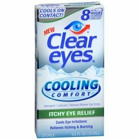 Clear Eyes Cooling Comfort Itchy Eye Relief Eye Drops 0.50 oz - usaotc.com