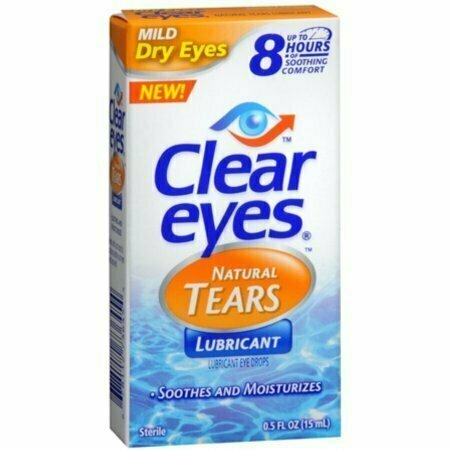 Clear Eyes Natural Tears Lubricant 0.50 oz - usaotc.com