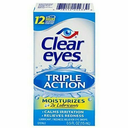 Clear Eyes Triple Action Relief Eye Drops 0.50 oz - usaotc.com