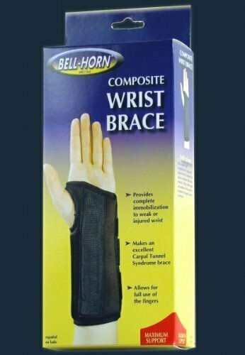 Composite Wrist Brace in Black size: Large, Wrist: Left - usaotc.com