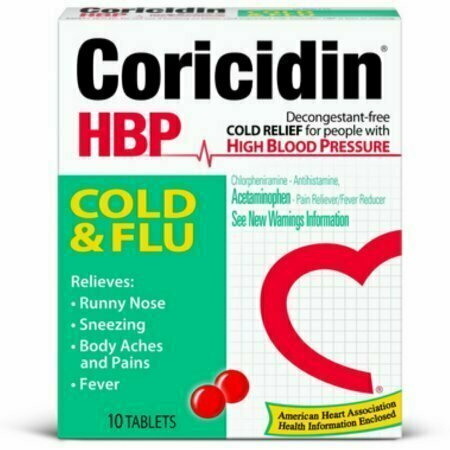 Coricidin HBP Cold & Flu Tablets, 10 each - usaotc.com