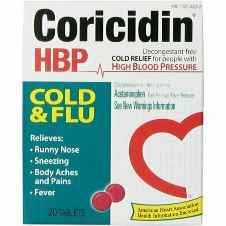 Coricidin HBP Cold & Flu Tablets, 20 each - usaotc.com