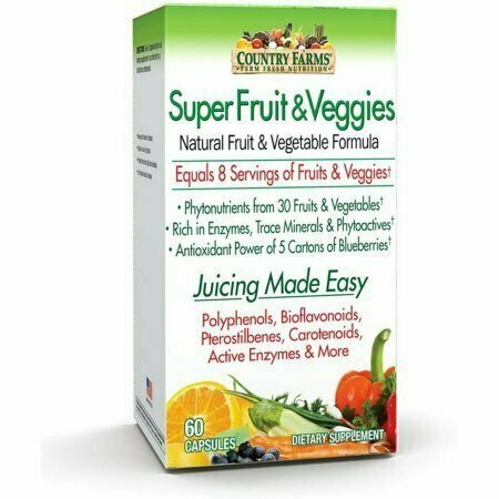 Country Farms Super Fruits & Veggies Capsules 60 each - usaotc.com
