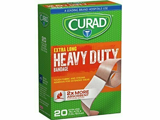CURAD Heavy Duty Bandage Extra Long 20 Each .75 x 4.75 in - usaotc.com