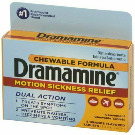 Dramamine Motion Sickness Relief Chewable Tablets 8 each - usaotc.com