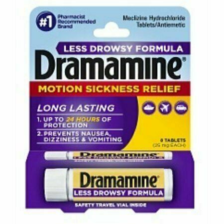 Dramamine Motion Sickness Relief Less Drowsy Formula Tablets 8 each - usaotc.com