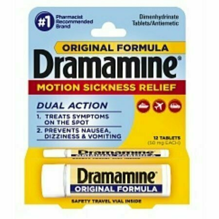 Dramamine Motion Sickness Relief, Original Formula, Tablets 12 each - usaotc.com