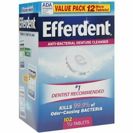 Efferdent Anti-Bacterial Denture Cleanser Tablets 102 each - usaotc.com