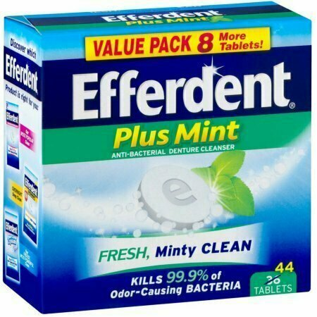 Efferdent Plus Mint Anti-Bacterial Denture Cleanser Tablets 44 each - usaotc.com