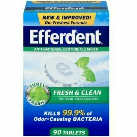 Efferdent Plus Mint Denture Cleanser Tablets 90 each - usaotc.com