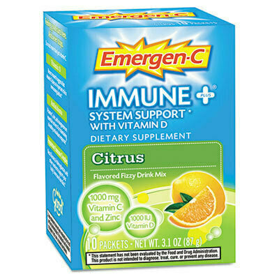 Emergen-C Immune+ System Support Fizzy Drink Mix Citrus - usaotc.com