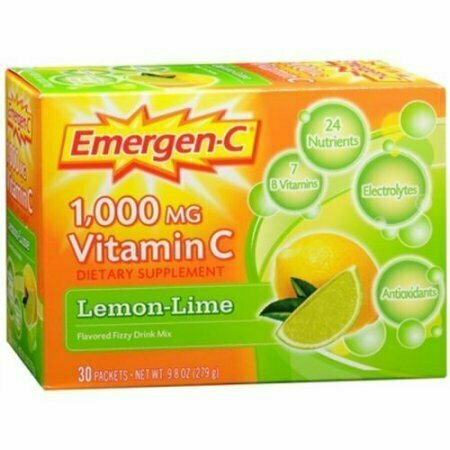 Emergen-C Vitamin C Drink Mix Packets Lemon Lime 30 Each - usaotc.com