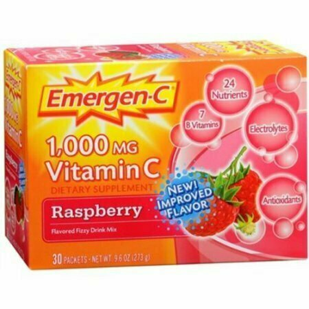 Emergen-C Vitamin C Drink Mix Packets Raspberry 30 Each - usaotc.com