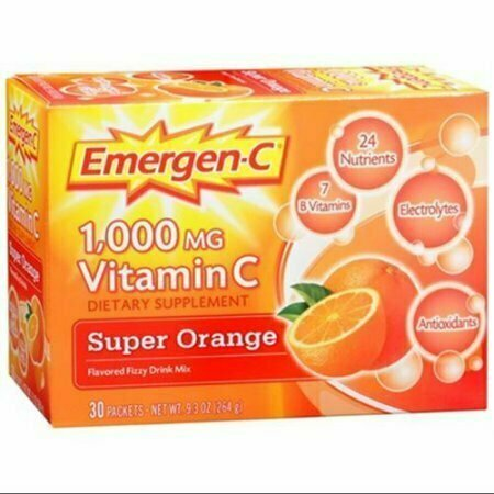 Emergen-C Vitamin C Drink Mix Packets Super Orange 30 Each - usaotc.com