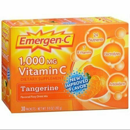 Emergen-C Vitamin C Drink Mix Packets Tangerine 30 Each - usaotc.com