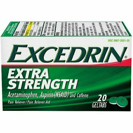 Excedrin Extra Strength Pain Reliever Geltabs 20 each - usaotc.com