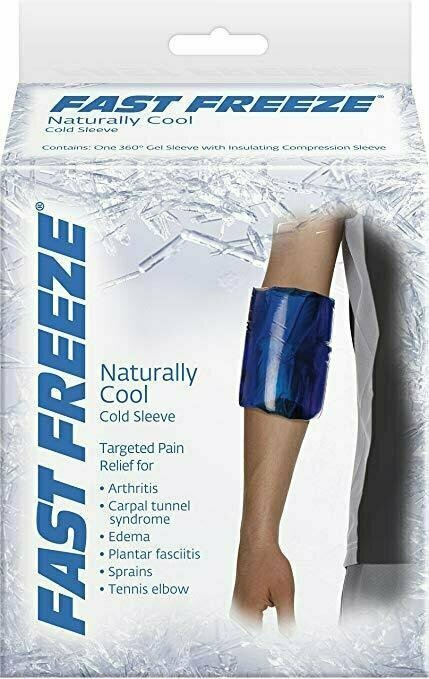 Fast Freeze Naturally Cool Cold Therapy: Compression Sleeve, X-Large - usaotc.com
