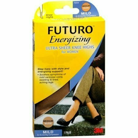 FUTURO Energizing Ultra Sheer Knee Highs Mild Small Nude 1 Pair - usaotc.com