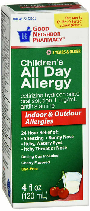 GNP ALLERGY RELIEF CHERRY LIQUID 4OZ - usaotc.com