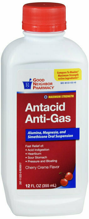 GNP ANTACID MAX STRENGTH CHERRY LIQUID 12OZ - usaotc.com