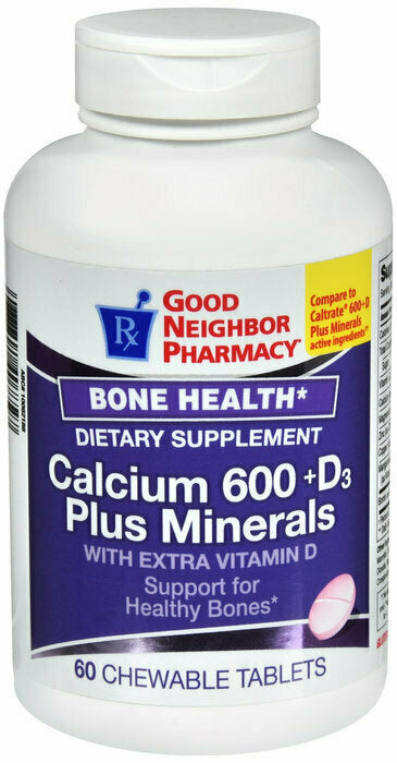 GNP CALCIUM + D3 + MINERALS 600 MG CHEWABLES 60 CT - usaotc.com