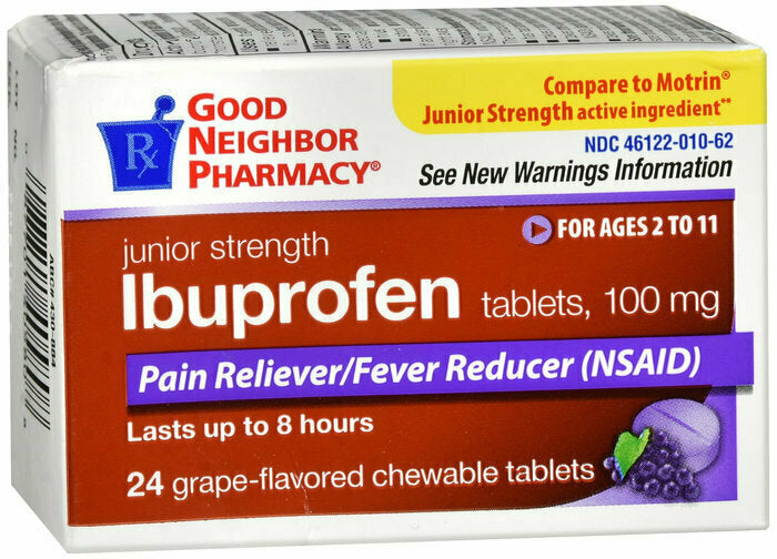 GNP IBUPROFEN JUNIOR GRAPE CHEWABLES 24 CT - usaotc.com
