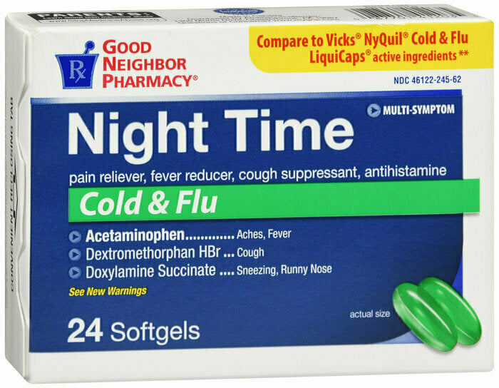 GNP NIGHT TIME COLD & FLU 24 TAB - usaotc.com