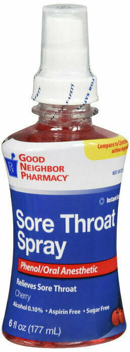 GNP SORE THROAT CHERRY SPRAY 6 OZ - usaotc.com