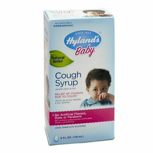 Hyland's Baby Cough Syrup, Natural Cough and Cold Relief, 4 Ounce - usaotc.com